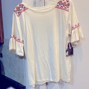 NWT Riders by Lee Effortless Style Large Top